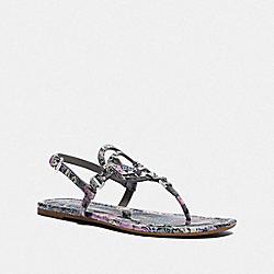 COACH G5122 Jeri Sandal LILAC/GREY