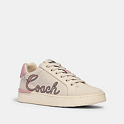 CLIP LOW TOP SNEAKER WITH COACH PRINT - G5127 - CHALK/BLOSSOM