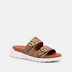GABLE SANDAL - G5137 - KHAKI/SADDLE