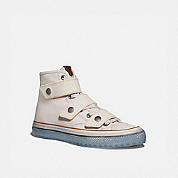 HIGH TOP BUTTON UP SNEAKER - CHALK - COACH G5144