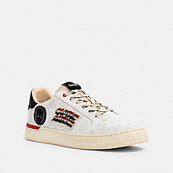 COACH G5145 Coach │ Marvel Clip Low Top Sneaker With Patches CHALK