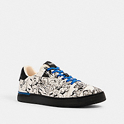 COACH G5146 Coach │ Marvel Clip Low Top Sneaker With Comic Book Print BLACK MULTI