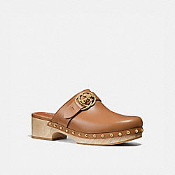 COACH G5158 Freya Clog LIGHT SADDLE
