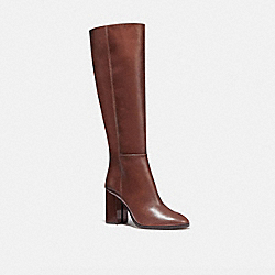 COACH G5341 - BRIGITTE BOOT DARK BROWN