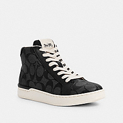 COACH G5385 - CLIP HIGH TOP SNEAKER CHARCOAL/BLACK