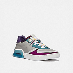 COACH G5509 Citysole Court Sneaker WASHED STEEL/MAGENTA