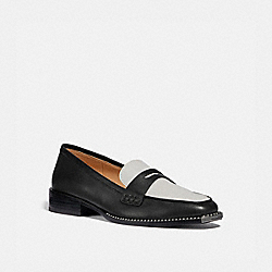 COACH G5553 Nelli Loafer BLACK/OPTIC WHITE