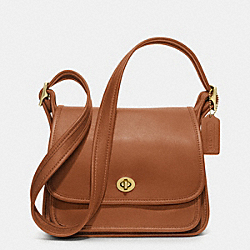 COACH IR9061 - RAMBLERS FLAP BAG IN GLOVETANNED LEATHER BRITISHTAN