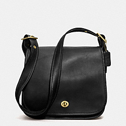 COACH IR9525 Stewardess Bag In Glovetanned Leather BLACK