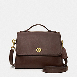 COURT BAG IN GLOVETANNED LEATHER - ir9870 - MAHOGANY