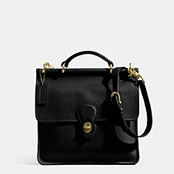 COACH IR9927 Willis Bag In Glovetanned Leather BLACK