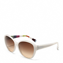 COACH L011 Abigail Sunglasses WHITE