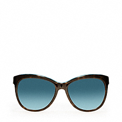 COACH L051 Samantha DARK TORTOISE/TEAL