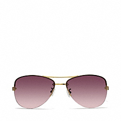 COACH L056 Jasmine Sunglasses GOLD/PINK