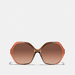 COACH L061++C5E++ONE Kaihla Sunglasses ORANGE BROWN