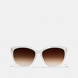 COACH L072 Celia Sunglasses MILKY WHITE/GOLD