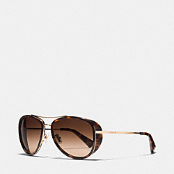 COACH L077 Andie Sunglasses DARK TORTOISE/GOLD