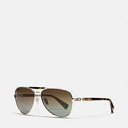 COACH L078 Alton Sunglasses GOLD/TORTOISE