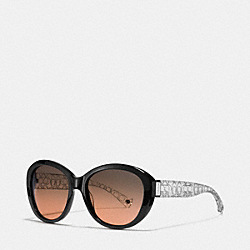 COACH L083 Asha Sunglasses BLACK/CRYSTAL