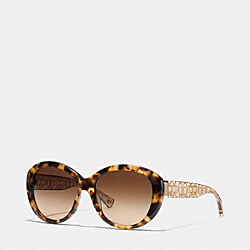 COACH L083 Asha Sunglasses SPTTY TRTSE/BRN CRYST