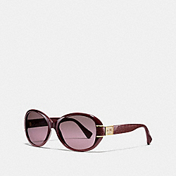 COACH L086 Blaine Horse And Carriage Oval Sunglasses GARNET