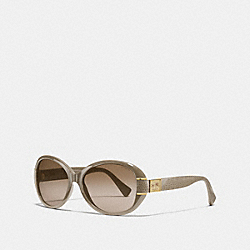 COACH L086 Blaine Horse And Carriage Oval Sunglasses SEPIA