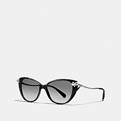 COACH L1021 - TEA ROSE SUNGLASSES BLACK