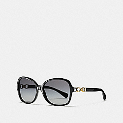 COACH L102 - ASIA FIT COLE SUNGLASSES BLACK