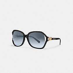 INTEGRATION FLOWER SUNGLASSES - l1033 - BLACK