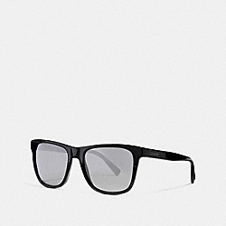 COACH LEROY SUNGLASSES - BLACK/GUNMETAL MIRROR - L1035