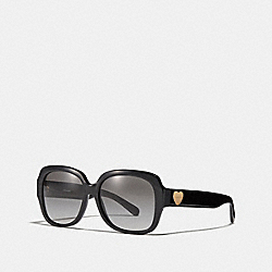 COACH L1052 Zoey Heart Sunglasses BLACK