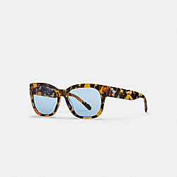 COACH L1068 - ELI REXY SQUARE SUNGLASSES HONEY MOSAIC/BLUE SOLID