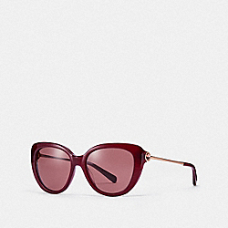COACH L1069 - JESSA CAT EYE SUNGLASSES AUBERGINE