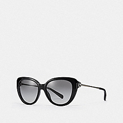COACH L1069 Jessa Cat Eye Sunglasses BLACK