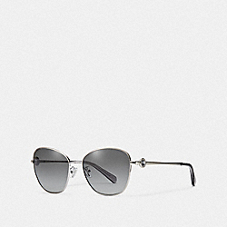 COACH L1070 Gia Butterfly Sunglasses SILVER/GREY GRADIENT