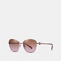 COACH L1070 Gia Butterfly Sunglasses ROSE GOLD/BROWN ROSE GRAD