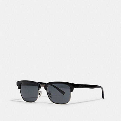 COACH L1126 DEAN SQUARE SUNGLASSES BLACK