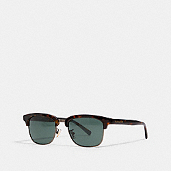 COACH L1126 - DEAN SQUARE SUNGLASSES DARK TORTOISE