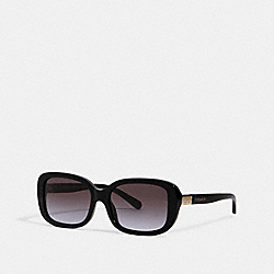 COACH L1142 Signature Rectangle Sunglasses BLACK