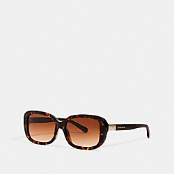 COACH L1142 - SIGNATURE RECTANGLE SUNGLASSES DARK TORTOISE