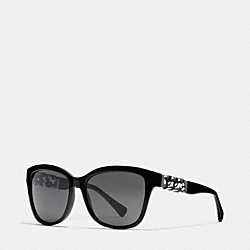 COACH L131 Whiplash Wayfarer Sunglasses BLACK