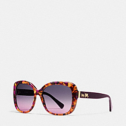 COACH L139 Horse And Carriage Square Sunglasses PURPLE CONFETTI