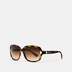 COACH L149 Rivet Square Sunglasses DARK TORTOISE