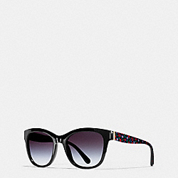 EVERGREEN SUNGLASSES - l1638 - RED BLACK RANCH FLORAL