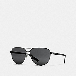 COACH BROOKS PILOT SUNGLASSES - BLACK - L1658