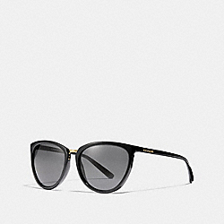 COACH L1661 June Cat Eye Sunglasses BLACK
