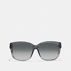 COACH L543 Asia Fit Sienna Rectangle Sunglasses GRAPHITE HORN
