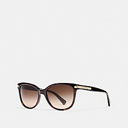 ASIA FIT TAG TEMPLE CAT EYE SUNGLASSES - L551 - DARK TORTOISE/DARK TORTOISE MILITARY SIG C