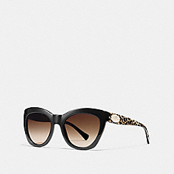 COACH L557 Asia Fit Edie Cat Eye Sunglasses WILD BEAST