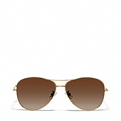 COACH L915 Jaclyn Sunglasses GOLD